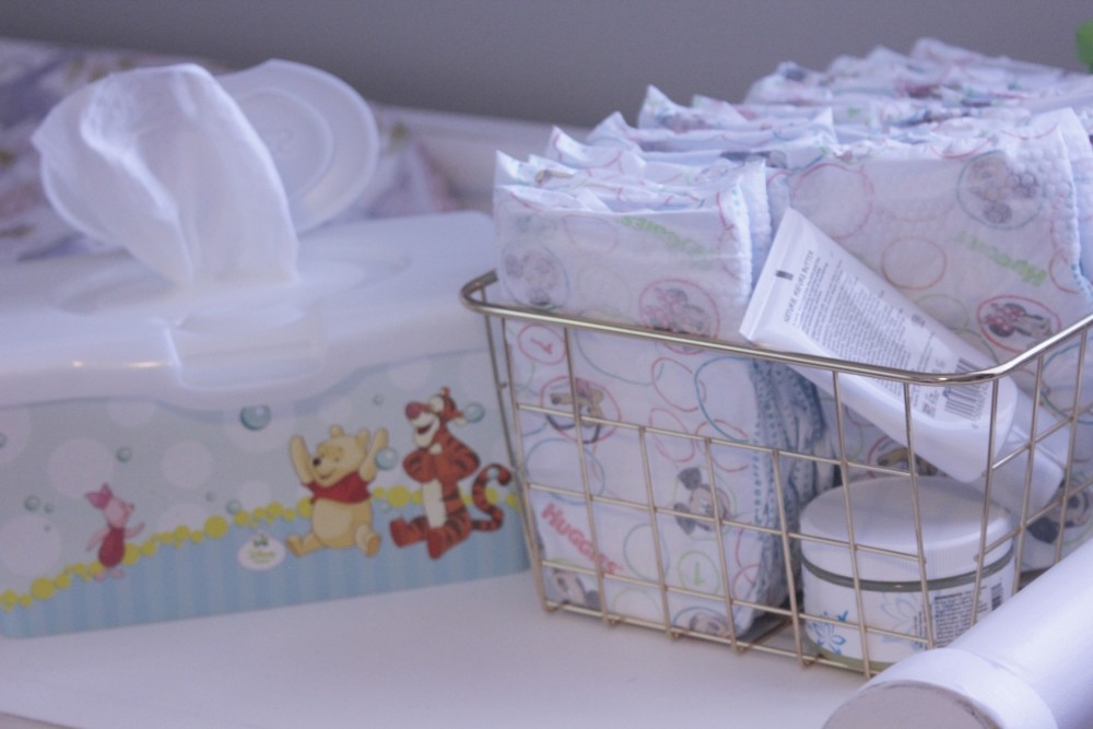 changing a newborn's diaper