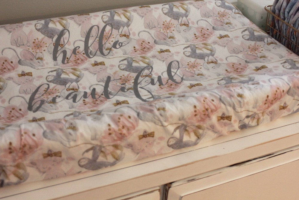 personalized sloth changing pad cover