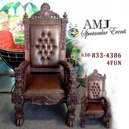 chair rental chicago best high chairs canada rent royal for santa claus or other royalty in il