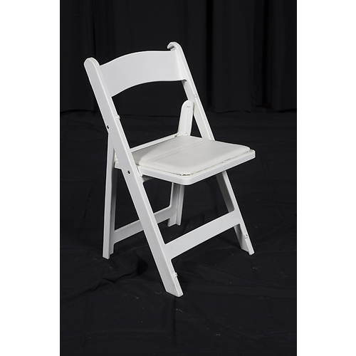 folding chairs for rent portable hammock chair white wooden in chicago il all rental
