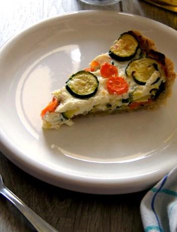 torta salata con zucchine e carote