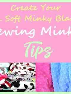minky tips - sewing tips - sewing with minky tips - soft baby blanket - amorecraftylife.com