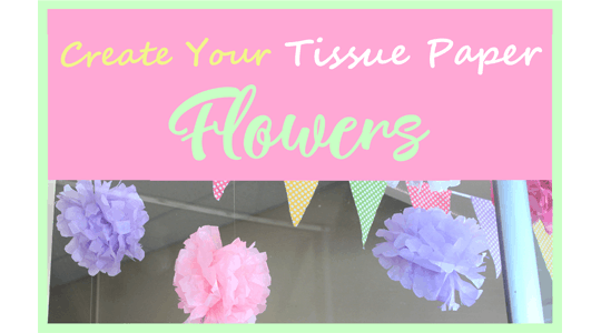 Spring Tissue Paper Flowers DIY - A More Crafty LIfe