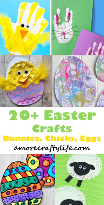 Kids Easter Crafts List Fun Spring Crafts A More Crafty Life