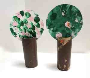 cherry blossom spring tree craft - amorecraftylife.com #crafts #kidscraft #craftsforkids