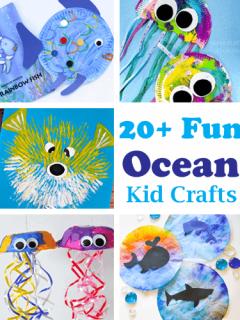 ocean kid craft - amorecraftylife.com #kidscrafts #craftsforkids #preschool