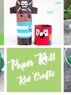 paper roll craft - kids craft- recycle craft - amorecraftylife.com