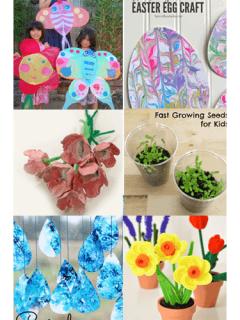 spring crafts for kids - amorecraftylife.com