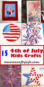 4th of July Kid Crafts - amorecraftylife.com #kidscrafts #craftsforkids #preschool