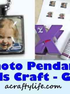 pendant craft -crafts for kids - kid craft -#kidscraft #preschool #craftsforkids amorecraftylife.com