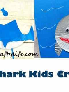 shark kid crafts - ocean kid crafts - crafts for kids - kid craft -#kidscraft #preschool #craftsforkids amorecraftylife.com