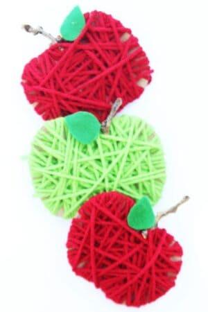 apple kid crafts- amorecraftylife.com - fall kid craft - craft for kids
