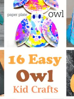 owl kid crafts - crafts for kids - kid craft -#kidscraft #preschool #craftsforkids amorecraftylife.com