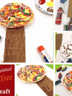sponge Fall tree Kid Craft- easy autumn kid craft - amorecraftylife.com #kidscrafts #craftsforkids #preschool