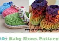 baby shoes crochet patterns - baby booties - baby gift - crochet pattern pdf - amorecraftylife.com #crochet #crochetpattern #baby