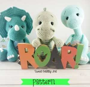 Dinosaur Crochet Patterns For Your Dino Lover A More Crafty Life