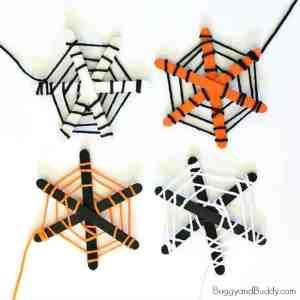 spider web kid crafts- fall kid craft - halloween kid craft- crafts for kids - amorecraftylife.com #kidscraft #craftsforkids #preschool