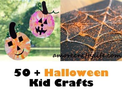 halloween kid crafts - fall kid craft -amorecraftylife.com #kidscraft #craftsforkids #preschool