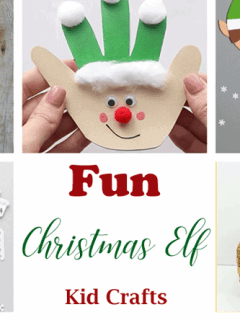 elf kid craft - christmas kid craft - arts and crafts activities - amorecraftylife.com #kidscraft #craftsforkids #christmas #preschool