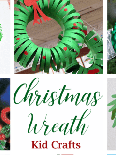 christmas wreath kid crafts - christmas kid craft - arts and crafts activities - amorecraftylife.com #kidscraft #craftsforkids #preschool