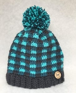 plaid crochet patterns - crochet pattern pdf - hat crochet pattern - amorecraftylife.com #hat #plaid #crochet #crochetpattern