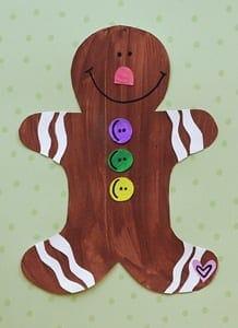 gingerbread kid crafts - christmas kid craft - arts and crafts activities - amorecraftylife.com #kidscraft #craftsforkids #christmas #preschool