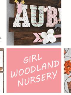 girl Woodland nursery idea - girl deer nursery - girl nursery theme - animal nursery decor- amorecraftylife.com #baby #nursery #babygift #woodland