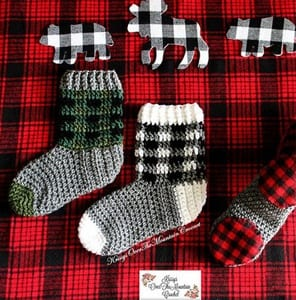 plaid crochet patterns - crochet pattern pdf - boot crochet pattern - amorecraftylife.com #plaid #crochet #crochetpattern