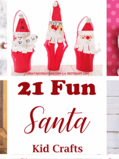 Santa kid craft - christmas kid craft - arts and crafts activities - amorecraftylife.com #kidscraft #craftsforkids #christmas #preschool