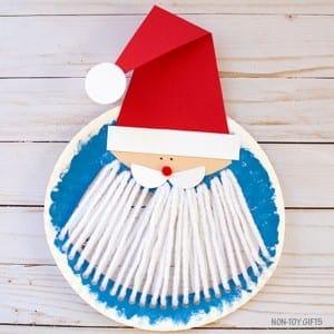 Santa kid craft - christmas kid craft - arts and crafts activities - amorecraftylife.com #kidscraft #craftsforkids #christmas #preschool