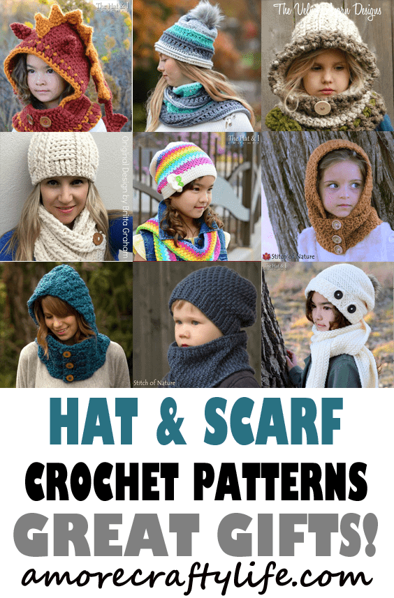 d9f444b6dca Hooded Scarf Crochet Patterns – Great Cozy Gift - A More Crafty Life