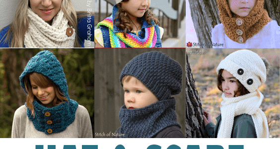 39caa59cf27 hooded scarf crochet patterns - hat scarf crochet patterns - cowl crochet  pattern - crochet pattern