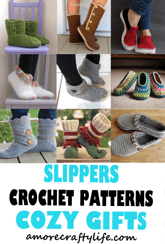 Slipper Crochet Patterns – Great Cozy Gift