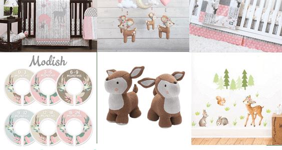 girl deer nursery cute baby room a more crafty life