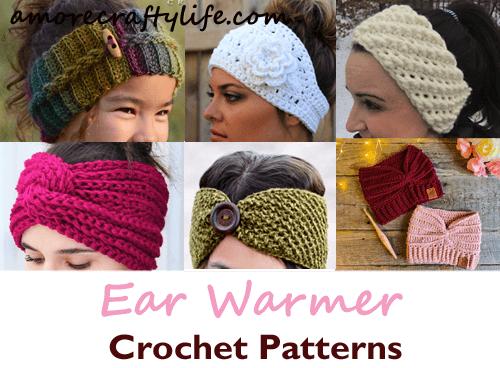 Crochet Pattern Crochet Flower Crochet Headband Crown Ear Warmer PDF Pattern Digital Download Winter Crown Ear Warmer Pattern