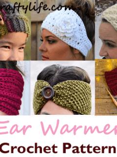 Make a cozy winter headband. headband crochet pattern- crochet pattern pdf - amorecraftylife.com #crochet #crochetpattern