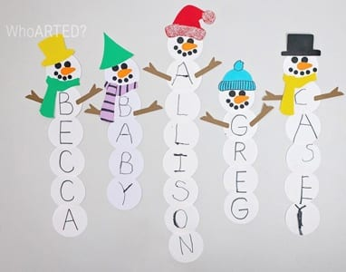 winter activities - arts and crafts activities -winter kid craft- amorecraftylife.com #kidscraft #craftsforkids #winter #preschool
