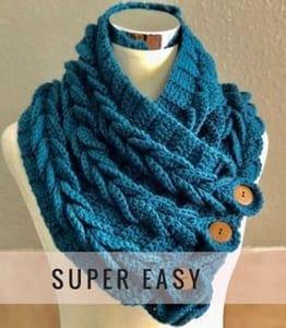 cowl crochet pattern- scarf crochet pattern pdf - amorecraftylife.com #crochet #crochetpattern