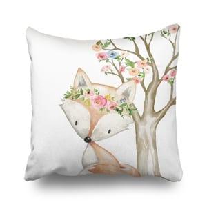 girl fox nursery idea - girl nursery theme - animal nursery - amorecraftylife.com #baby #nursery #babygift #woodland #babygirl