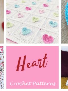heart crochet pattern- valentinecrochet pattern pdf - valentines day crochet -day pattern- amorecraftylife.com #heart #crochet #crochetpattern