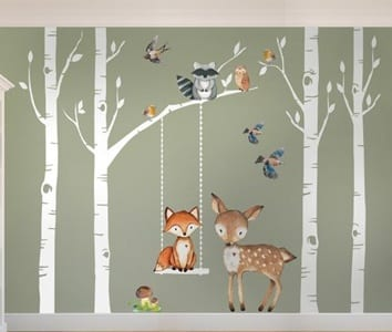 woodland nursery ideas- boy nursery theme - animal nursery - amorecraftylife.com #baby #nursery #babygift #babyboy