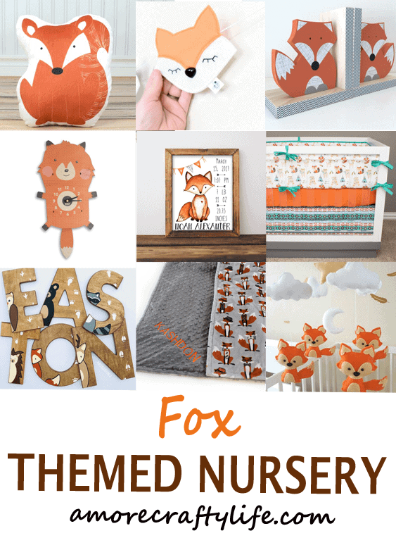 fox nursery ideas- boy nursery theme - woodland nursery - amorecraftylife.com #baby #nursery #babygift #babyboy