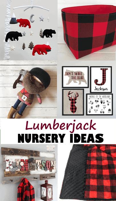lumberjack nursery - woodland nursery idea - nursery theme - buffalo plaid nursery - amorecraftylife.com #baby #nursery #babygift #woodland