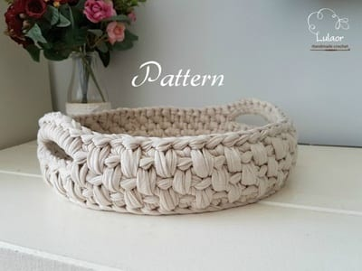 basket storage crochet pattern- crochet pattern pdf - amorecraftylife.com #crochet #crochetpattern