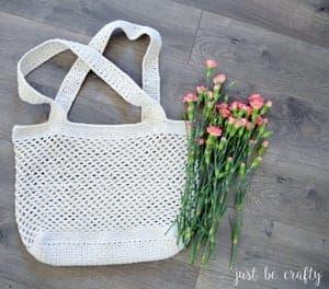 Market bagCrochet shopping bagBeach bag
