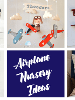 airplane nursery idea - boy nursery theme - amorecraftylife.com #baby #nursery #babygift