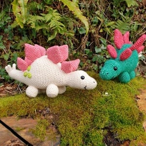 Dinosaur Amigurumi Tutorial | Free Crochet Pattern | Open Mouth ... | 300x300