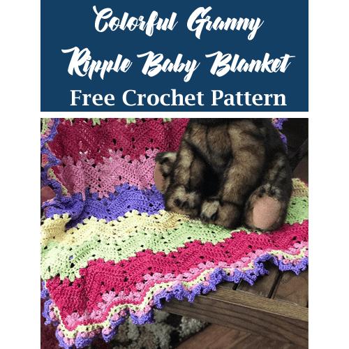baby blanket free crochet pattern - granny ripple crochet pattern- pattern pdf - amorecraftylife.com #crochet #crochetpattern #freecrochetpattern