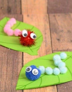 caterpillar Kid Crafts - bug kid craft - insect kid craft amorecraftylife.com #kidscrafts #craftsforkids #preschool