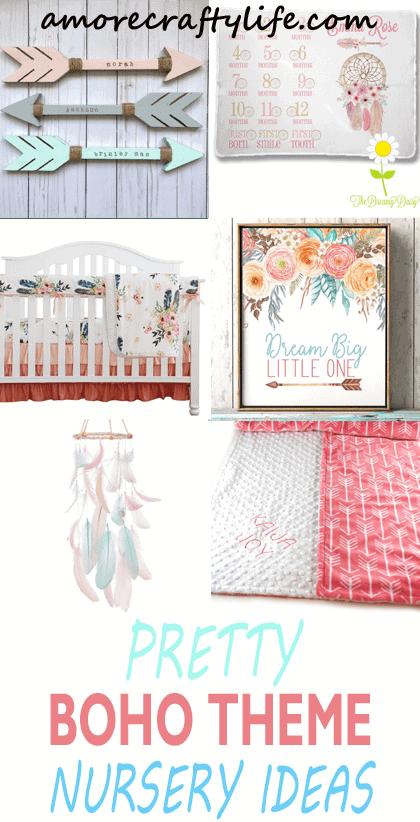 Pretty Boho Nursery Ideas Cute Girl Tribal Theme A More Crafty Life